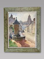 D Richier - Watercolour - French Village Scene - Signed