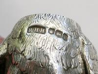 Pair of George V Novelty Silver Wren Peppers, by R H H, Sheffield, 1926 (12 of 12)