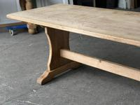 French Bleached Oak Trestle End Farmhouse Dining Table (2 of 19)