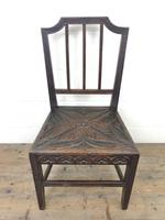 Pair of Antique Carved Oak Hall Chairs (5 of 13)