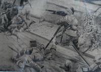 Heroic Highlander, WW1 Drawing (7 of 8)