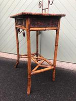 Antique Lacquered Bamboo Desk (6 of 11)