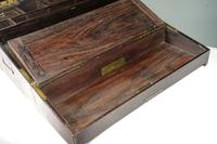 Late 19th Century Highly Figured Mahogany & Brass Writing Slope (6 of 8)