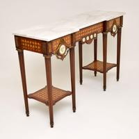 Antique French Marble Top Console Table (3 of 11)