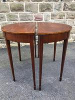 Pair Antique Mahogany Console Tables (8 of 9)