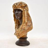 Antique Bronzed Spelter Bust of a Moorish Man (2 of 10)