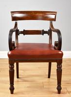 19th Century Regency Mahogany Open Armchair (2 of 9)