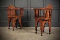 Pair of Damascus Syrian Moorish Inlaid Armchairs (2 of 17)