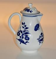 Worcester 'Three Flowers' Pattern, Sparrow-Beak Jug & Cover c.1770 / 1790 (5 of 11)