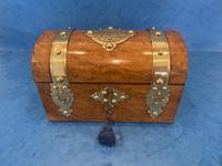 Victorian Brassbound Burr Walnut Stationary Box (8 of 11)