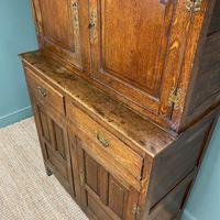 Magnificent Georgian Period Oak Cwpwrdd Deuddarn Cupboard (7 of 8)