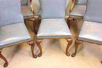 Set of Six Antique Queen Anne Style Walnut Dining Chairs (14 of 15)