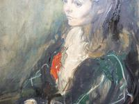 Large Oil on Canvas Portrait of Carolyn Royal Academy Artist Margaret Milne 1970 (6 of 10)