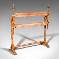 Antique Tapestry Stretcher, English, Beech, Needlepoint Frame, Victorian, 1900 (2 of 10)