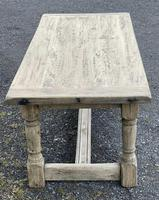 Rustic Bleached Oak French Farmhouse Dining Table (17 of 34)