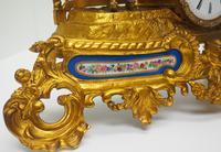 Antique 8 Day Ormolu Mantel Clock Sevres Cavalier Explorer French Mantle Clock (2 of 6)