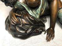 Art Deco Original Cold Painted Bronze Erotic Nude Lady Sculpture (7 of 31)