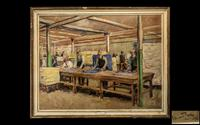 Edmund George Lycester Maude Roxby, Set of 3 Unique Industrial Oil Paintings (2 of 3)