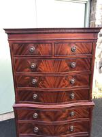 Quality Mahogany Serpentine Chest on Chest (9 of 11)