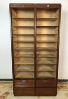 """Vintage Mid Century Double French Filing Cabinet Tambour Roller Shutter """"Radia"""" (10 of 12)"""