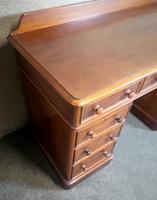 Victorian Mahogany Twin Pedestal Desk (6 of 9)