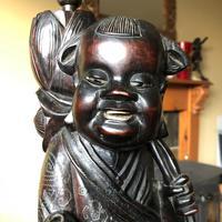 Oriental Hardwood Table Lamp c.1910 (3 of 11)