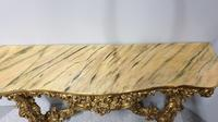 Carved Wood Gilt Console Table (10 of 17)