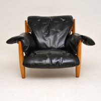 "Vintage ""Sheriff"" Leather Armchair by Sergio Rodrigues for ISA (2 of 12)"