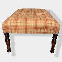 Buttoned Tartan Plaid Low Footstool (3 of 7)