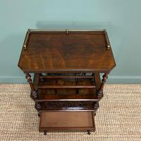 Victorian Rosewood Antique Canterbury (5 of 7)