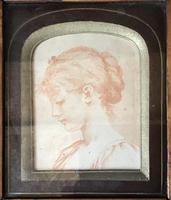 Antique Portrait  Miniature in Maple Frame (2 of 3)