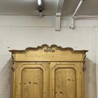 Beautiful Ornate Antique Pine Wardrobe - Dismantles (5 of 5)