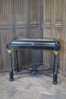 Ebonised Bijouterie / Vitrine Cabinet Table (2 of 8)