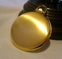 Vintage Swiss Oriosa Pocket Watch 1970s 12ct Gold Plated Full Hunter Quartz Fwo (9 of 11)
