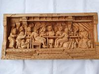 'Last Supper' High Relief Carving in Lime Wood, by Scottish Sculptor Alan Lees