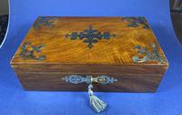 Victorian Brassbound Walnut Jewellery Box (5 of 9)