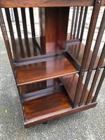 Edwardian Mahogany Revolving Bookcase (8 of 9)