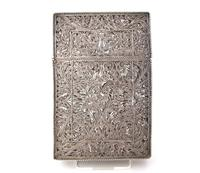 Fine Continental silver filigree card case c 1890 (4 of 12)