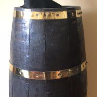 19th Century Coopered Oak Barrel Stick Stand (3 of 9)