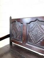 Antique Carved Oak Settle Bench (7 of 10)
