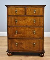 Queen Anne Style Burr Walnut Chest of Drawers (8 of 8)