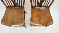 Near Pair of Victorian Windsor Wheel Back Kitchen Chairs in Beech & Elm (2 of 12)