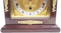 Superb Mahogany Caddy Top Mantel Clock Dual Musical Bracket Clock by Elliott (9 of 9)