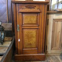 Antique Edwardian Satinwood Bedside Table Night Stand (3 of 7)