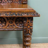 Stunning Carved Oak Victorian Antique Hall Table (3 of 8)