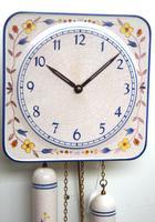 Rare Kitch Ceramic Pot Clock – Weight Driven 1950s Kitchen Striking Wall Clock (4 of 10)