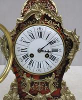 French Louis XV Style Boulle Mantel Clock Retailed by R&C (8 of 9)