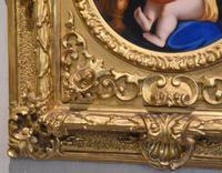 Porcelain Plaque of the Madonna Della Sedia by Raphael (7 of 9)
