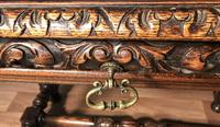 Victorian Carved Oak Library Table (9 of 25)
