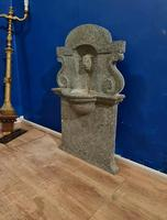 Antique Reclaimed Salvage Synagogue Wall Fountain Solid Marble Judaica Hebrew